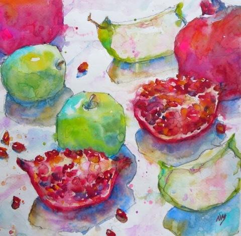 Pomegranates by Nora MacPhail